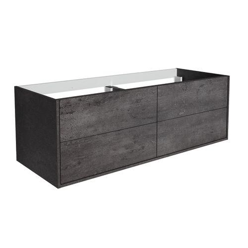 Meuble de lavabo Allibert Marny 4T 120cm béton