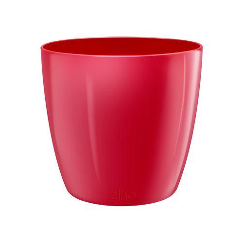 Pot Elho 'Brussels Diamond Round' lovely rouge 22,4 cm