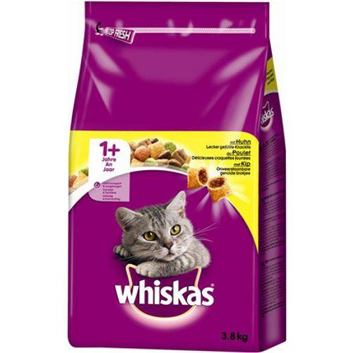 Whiskas droog adult kip 3,8 kg