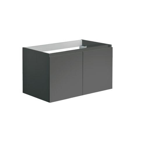Allibert wastafelonderkast Alma 80cm met twee deuren grijs glanzend