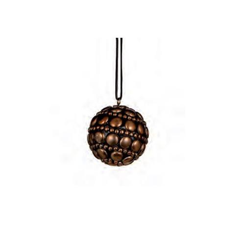 Boule de Noël vintage cuivre 80 mm