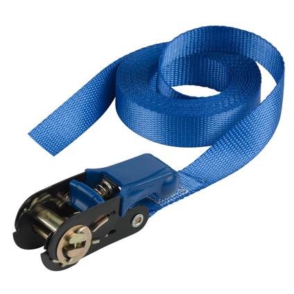 Sangle d'arrimage Master Lock avec pince 5m bleu