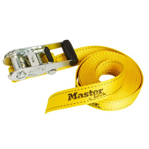 Master Lock spanbanden J-haken 6mx35mm geel