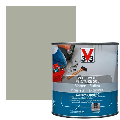 Vloerverf V33 Extrême Traffic carbon satijn 500 ml