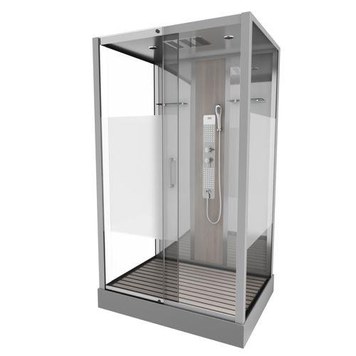 Cabine de douche Aurlane 'Finlandia' 115 x 90 cm