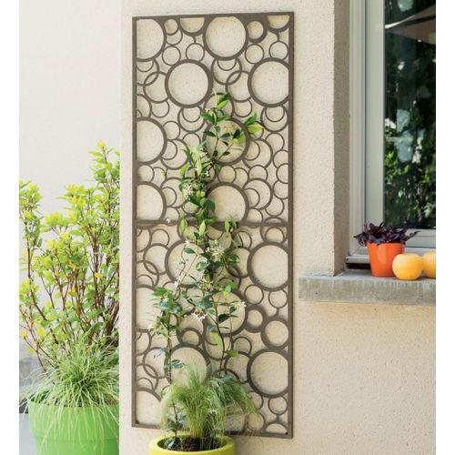 Nortene decoratieve panneel metaal grijs ronde 60x150cm