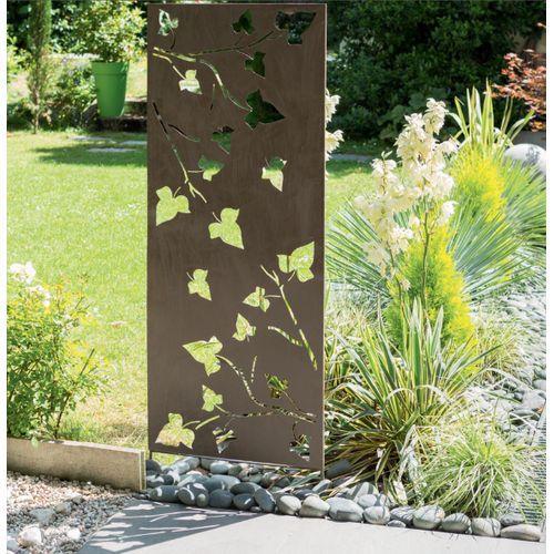 Nortene decoratieve paneel metaal grijs bladerenmotief 60x150cm