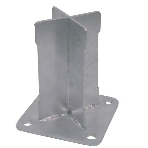 Nortene basis Basfix Floor voor paal Alupost 10x10x10,5cm