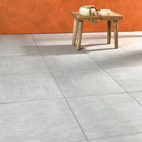 Carrelage sol 'Sextans' gris clair 40 x 40 cm