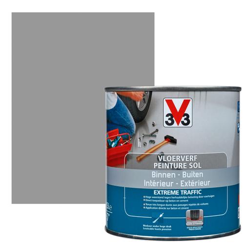 Vloerverf V33 Extrême Traffic beton satijn 500 ml