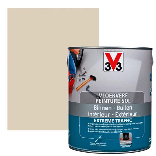 Vloerverf V33 Extrême Traffic steen satijn 2,5L