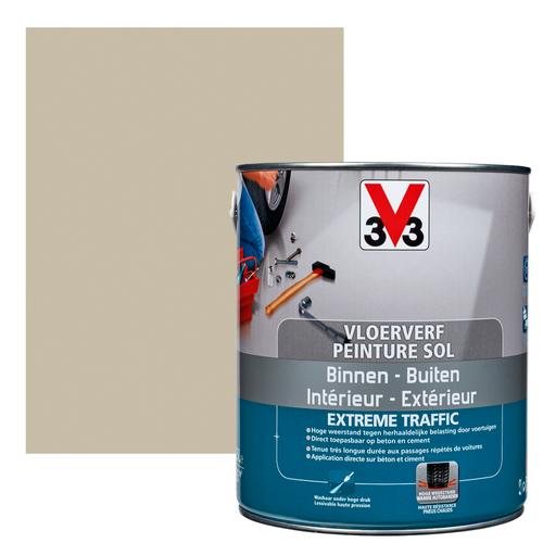Vloerverf V33 Extrême Traffic leem satijn 2,5L
