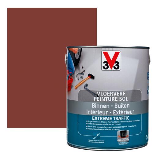 Vloerverf V33 Extrême Traffic terracotta satijn 2,5L