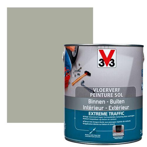 Vloerverf V33 Extrême Traffic carbon satijn 2,5L