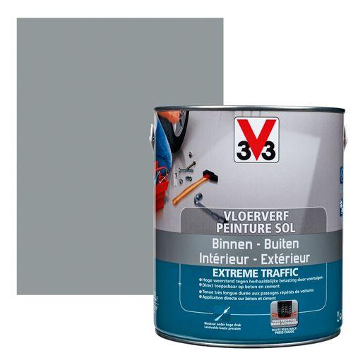 V33 vloerverf Extrême Traffic leisteen zijdeglans 2,5L