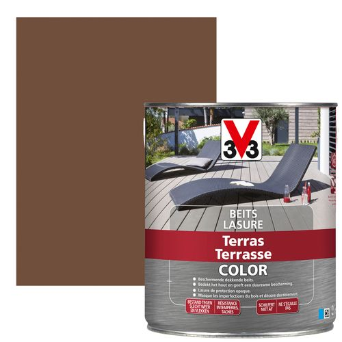Lasure terrasse V33 Color teck mat 2,5L