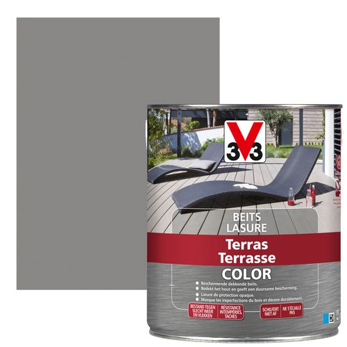 V33 houtbeits Terras vergrijsd hout mat 2,5L