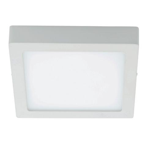 Plafonnier Eglo 'Fueva 1' blanc carré 22 W