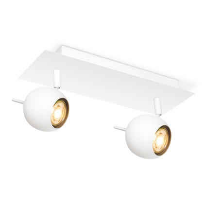 Home sweet home spotlamp 'Bollo' wit 2 x 5,8 W