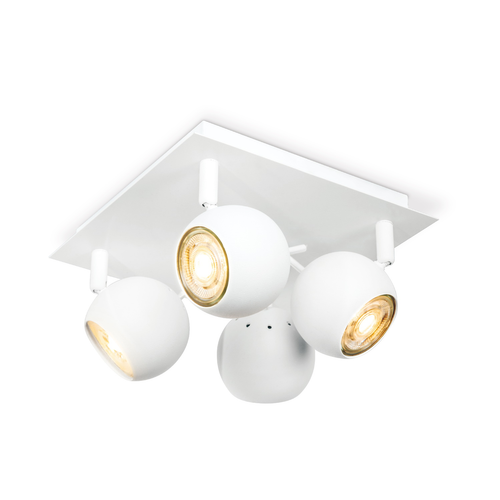 Home sweet home spotlamp 'Bollo' wit 4 x 5,8 W