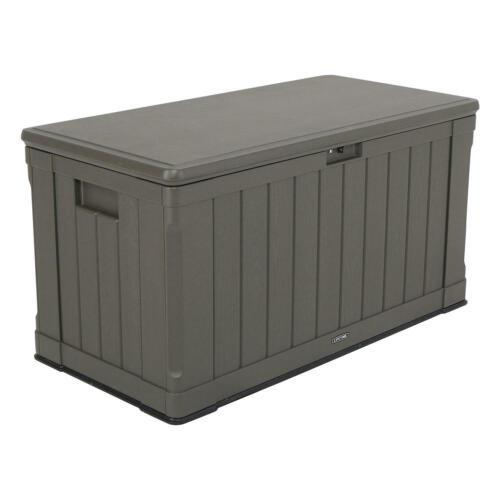 Coffre de jardin Lifetime 'Storage Box' brun foncé 127,9 x 64 cm