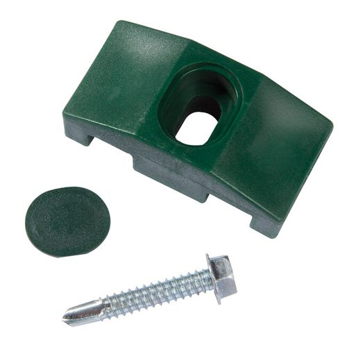 Collier milieu/fin pour poteau de portillon Giardino carré vert