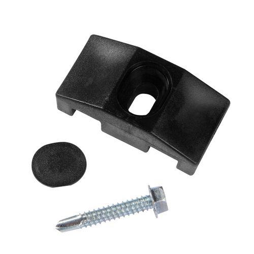 Clips pour poteau carré Giardino noir – 10 pcs