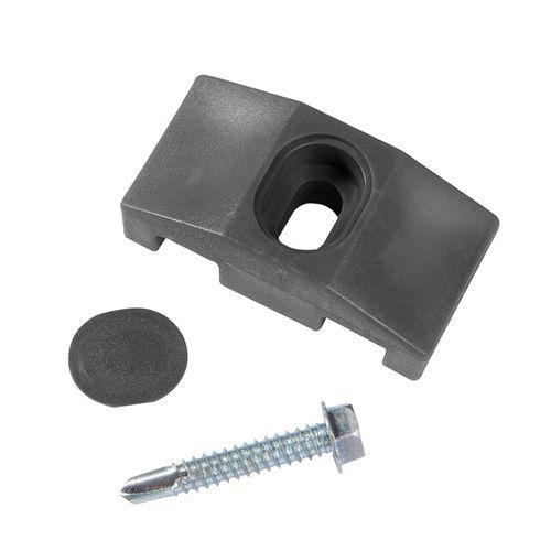 Clips pour poteau carré Giardino gris – 10 pcs
