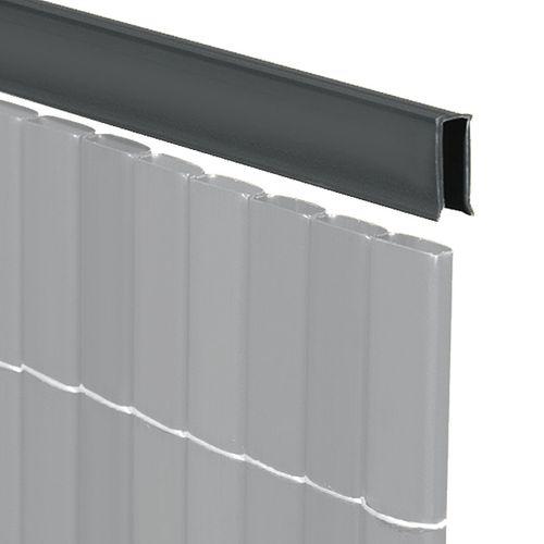 Videx afdekprofiel U-vorm antraciet 150cm