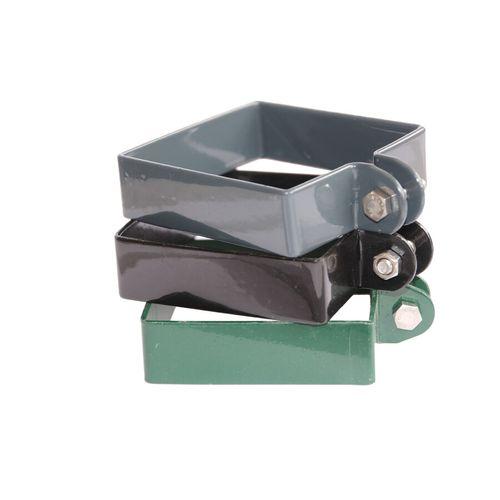 Giardino eindklem voor poortpaal vierkant grijs 8 cm