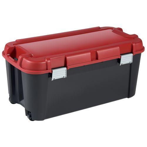 Malle de rangement Keter Totem 80L PVC noir/rouge