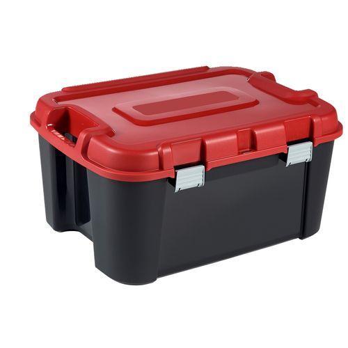 Allibert opbergkoffer 'Totem' zwart-rood 140L