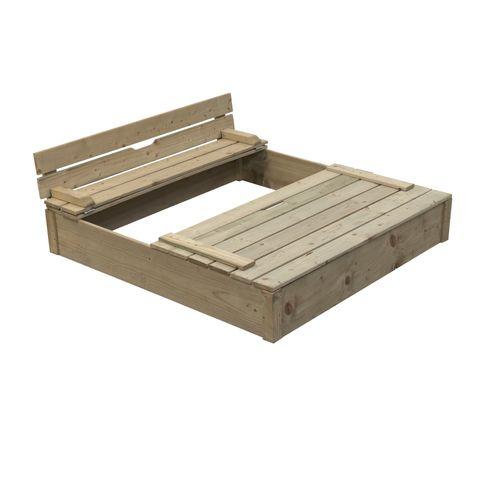Bac à sable en bois SwingKing Robert 120x120x25cm