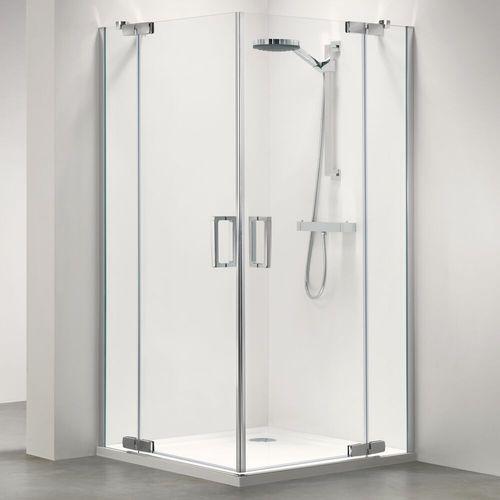 Sealskin | get wet Custom Hoekinstap, 100x100cm,zilverhoogglans, 6mm helder veiligheidsglas