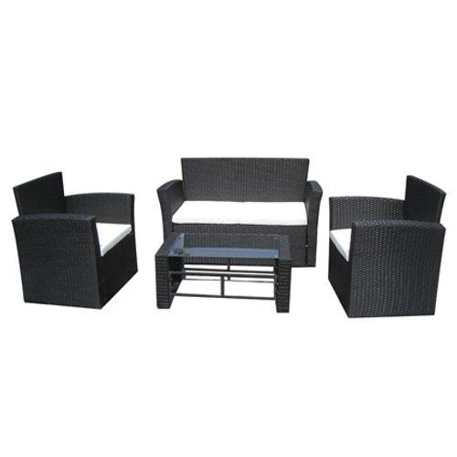 VidaXL loungeset Merano zwart