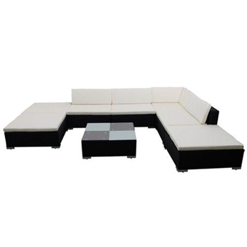 VidaXL loungeset 20 zwart