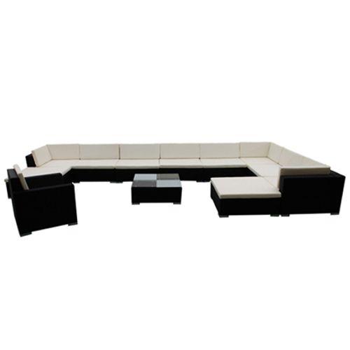 VidaXL loungeset 35 zwart