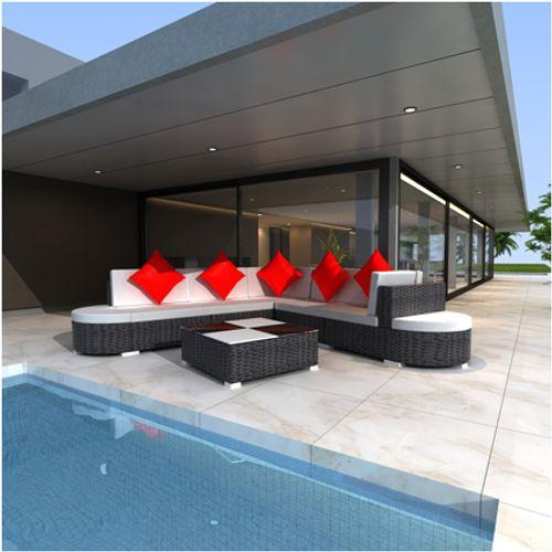 VidaXL loungeset 27 zwart