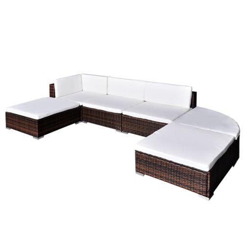 VidaXL loungeset 16 bruin