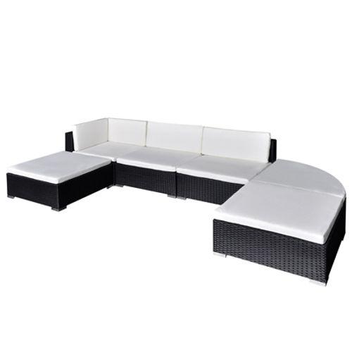 VidaXL loungeset 16 zwart