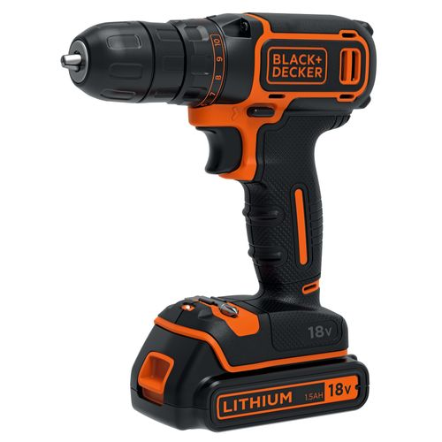 Perceuse-visseuse  Black + Decker 'BDCDC18' 18V
