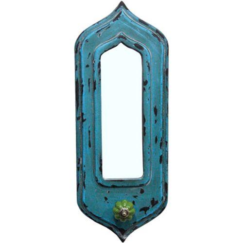 Wandkapstok vintage blauw