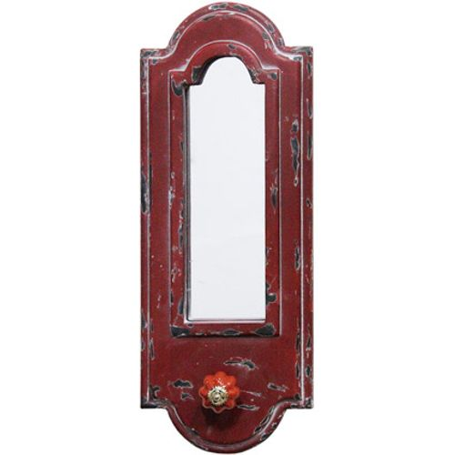 Wandkapstok vintage rood