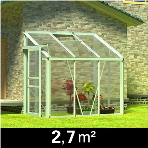 Tuinkas polycarbonaat 2,7 m² (muurkas)