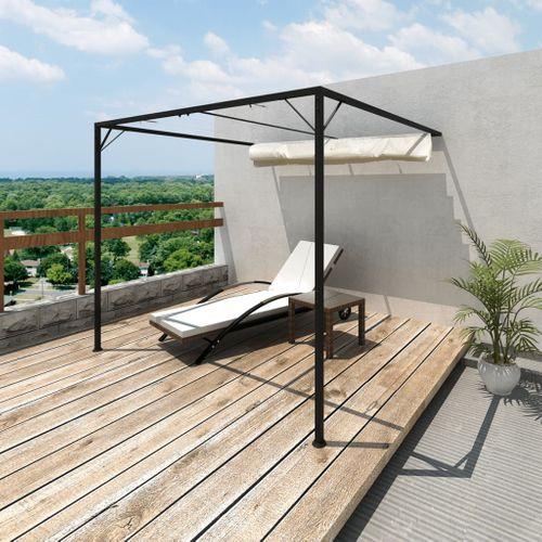 Muurpaviljoen Spineda met uischuifbaar dak 3 x 3 m