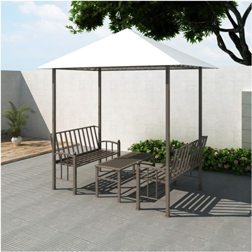 Tuinpaviljoen Rho met tafel en bankjes 2,5 x 1,5 x 2,4 m