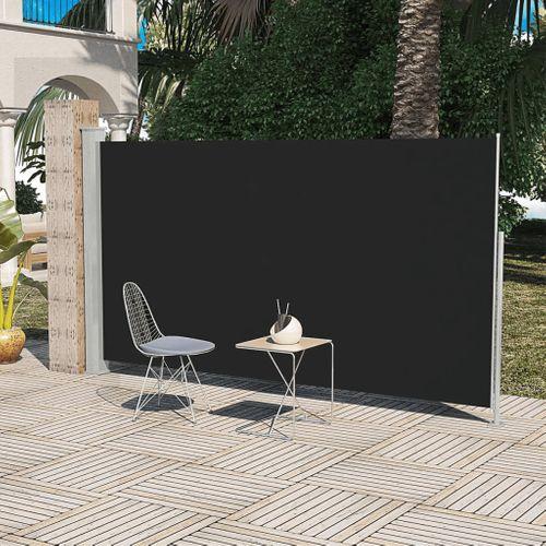 Uittrekbaar wind- / zonnescherm 160 x 300 cm zwart