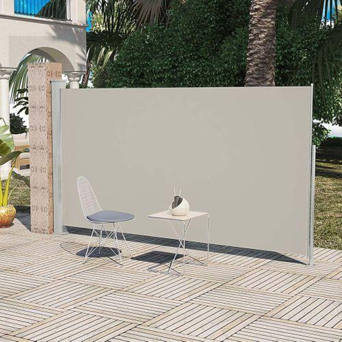 Uittrekbaar wind- / zonnescherm 160 x 300 cm crème