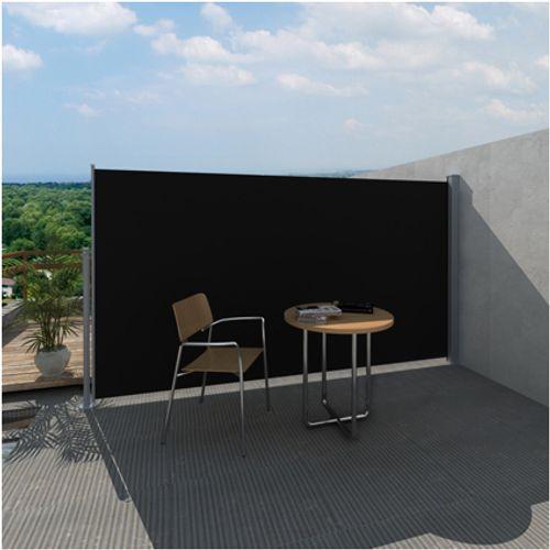 Uittrekbaar wind- / zonnescherm 180 x 300 cm zwart