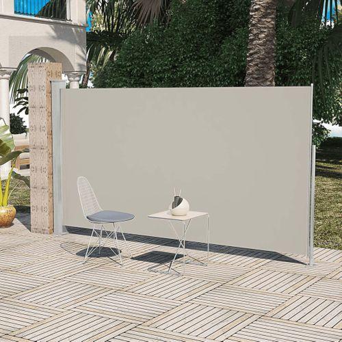 Uittrekbaar wind- / zonnescherm 180 x 300 cm crème